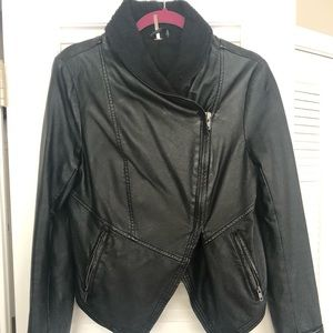 Cropped Faux Leather Free People Jacket